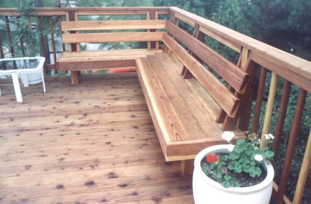 Deck In Built Bench