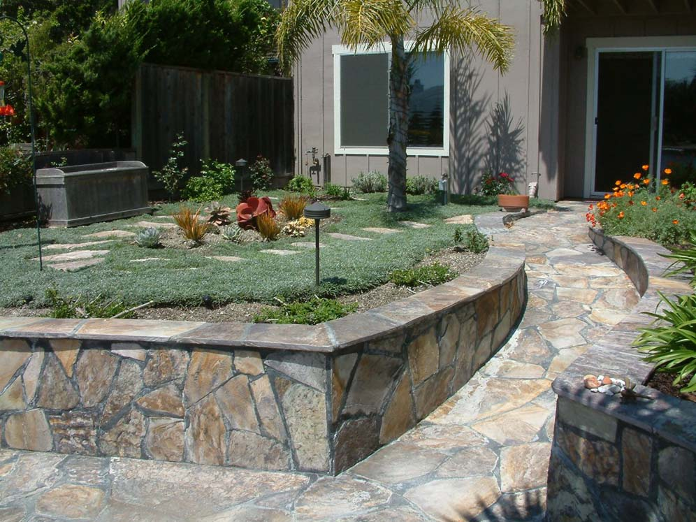 Smooth Paver Walkway
